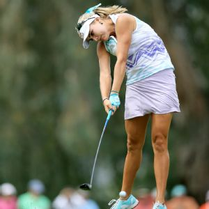 Known for bombing the ball, Lexi Thompson impressed with her putting Friday, needing only 25 on the round.