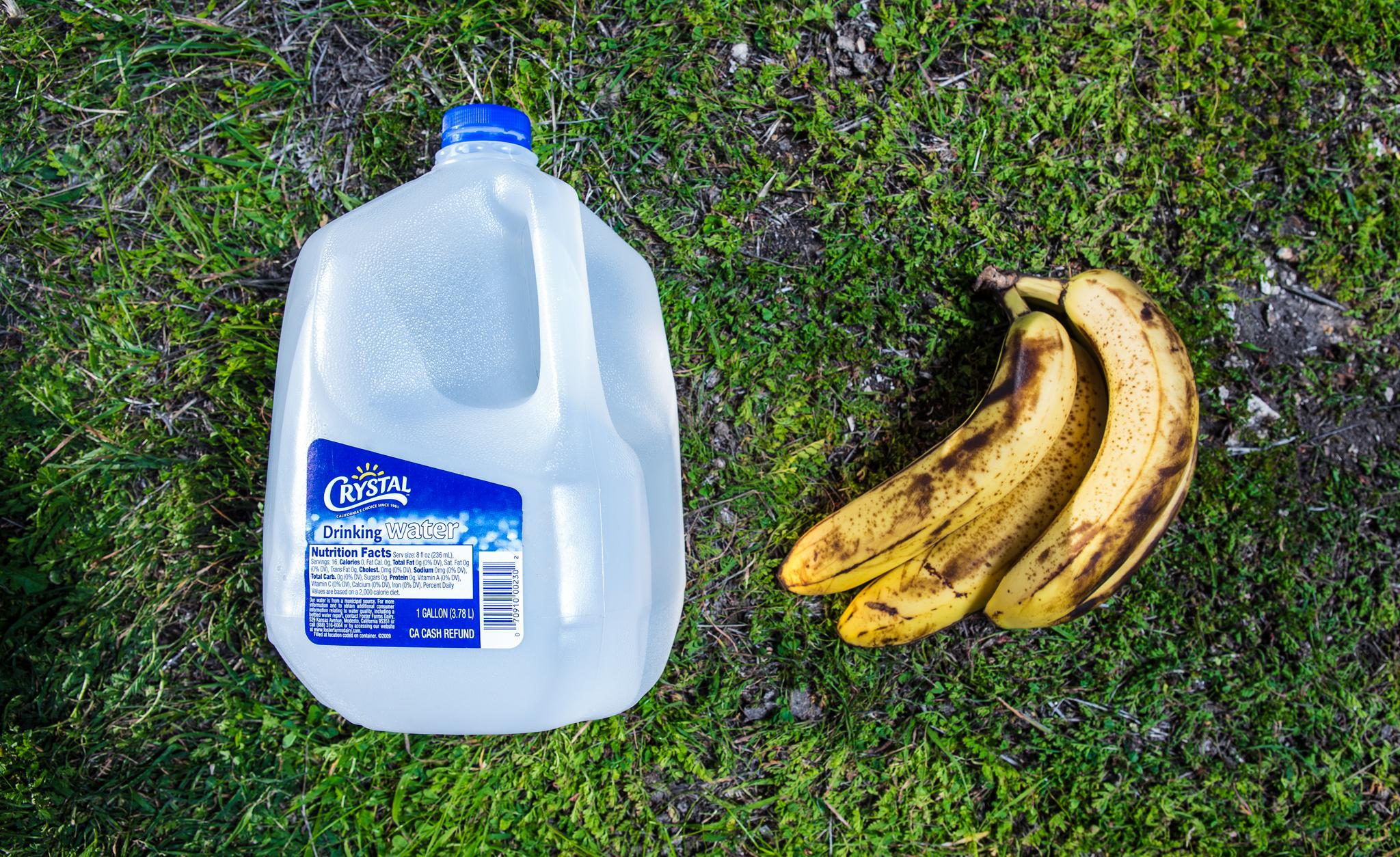 Bananas and water
