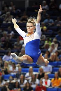 Bridget Sloan, the defending NCAA all-around champion, was on the 2008 U.S. Olympic team with UCLA gymnast Samantha Peszek.