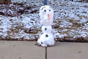 Florida girls aren't used to snow, so when they had the chance to make a snowman, they took advantage.