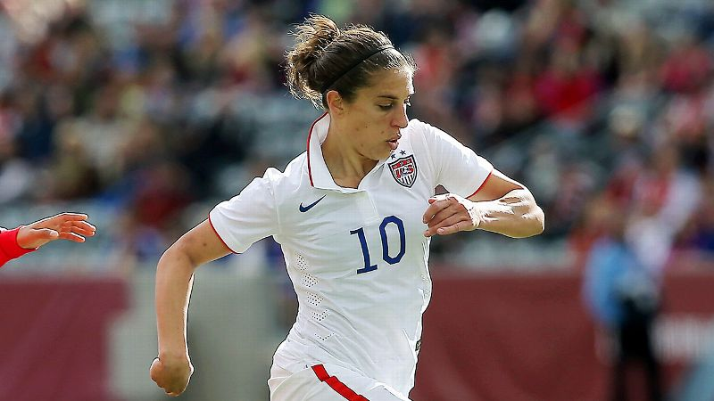 Carli Lloyd scored her 50th career goal when the U.S. played China on April 9.