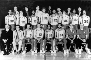 Dr. Jack Ramsay with his 1977 championship squad.