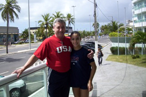 Aly Raisman with coach