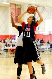 Amber Ramirez is one of 39 players who was invited by USA Basketball to trials for the U17 national team.