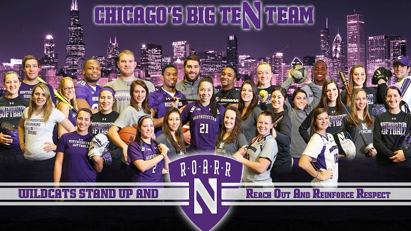 From its inception this past summer, the Wildcats Stand Up And R.O.A.R.R. program has grown to enlist more than 30 Northwestern athletes.