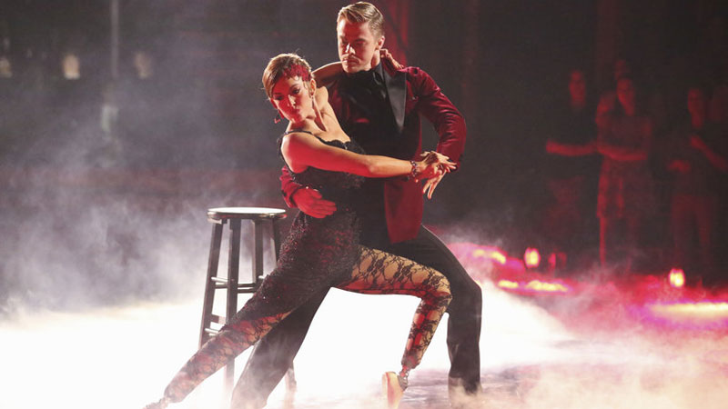Amy Purdy and partner Derek Hough placed second in the Dancing with the Stars finale this week.