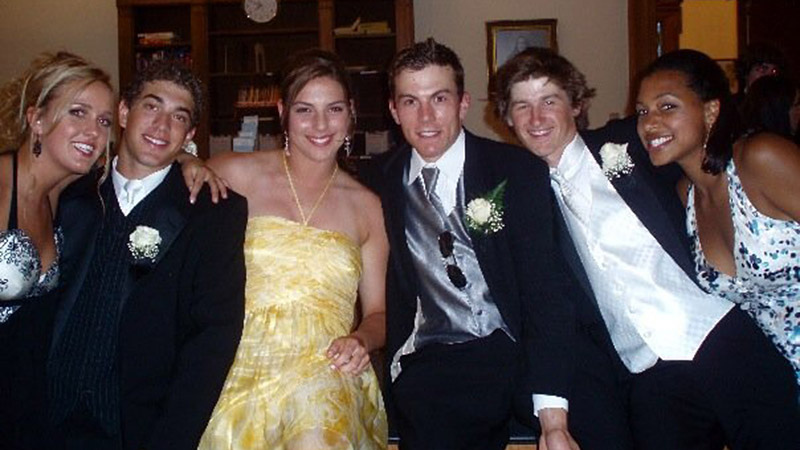 This is from our sixth form formal.  At my high school we didn't have prom, but we did have formal dances.