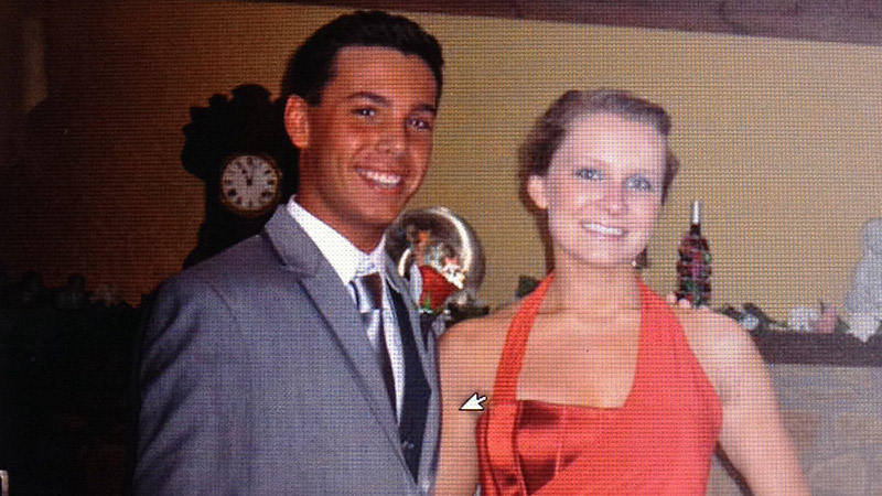 I was thinking that my date, Austin, was making me look pale ... so good thing that I was going to college in Florida!