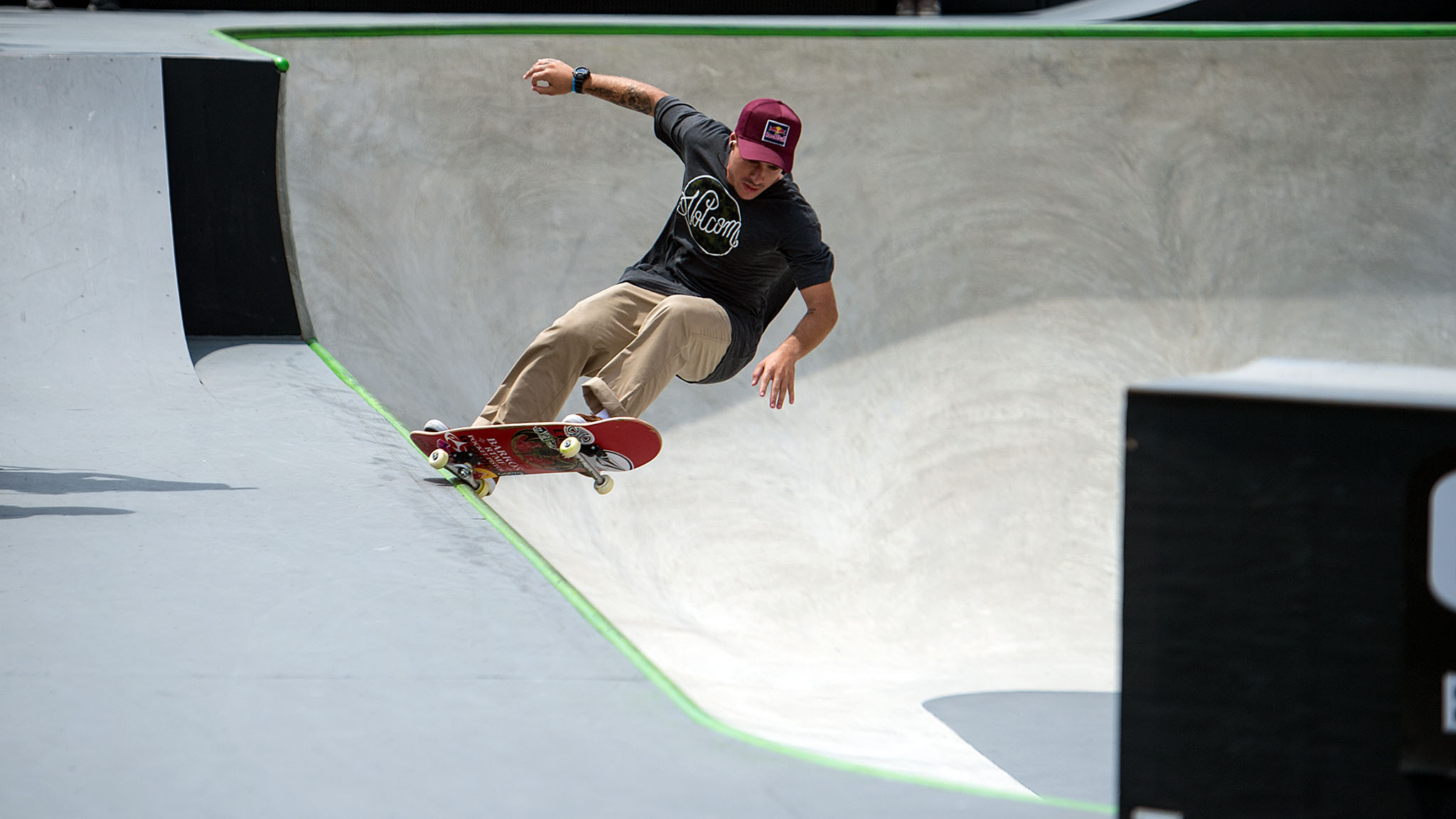 Pedro Barros won his fifth gold medal in Skateboard Park.