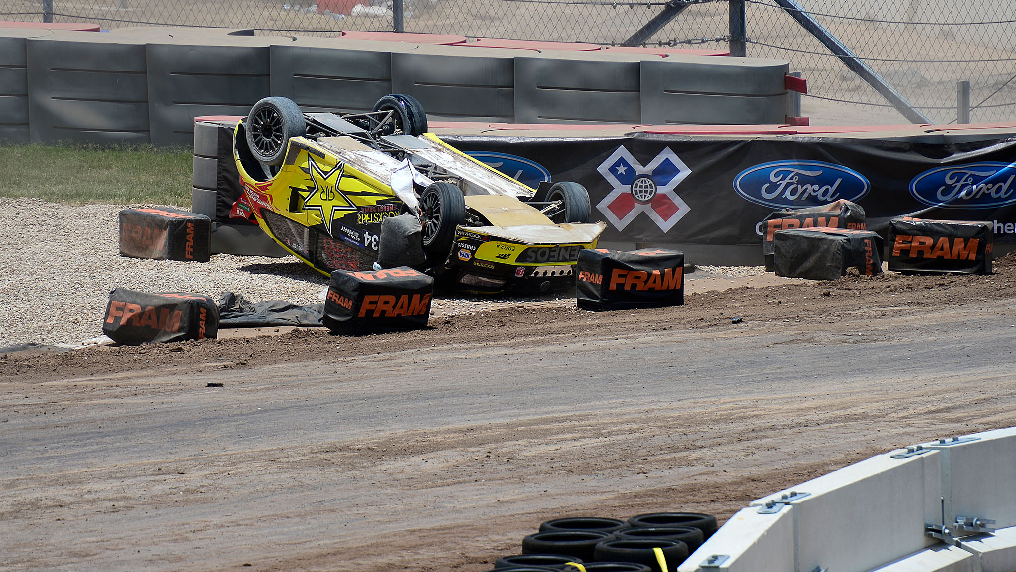 Typically a finalist in the field of RallyCross at X Games, Tanner Foust took the first corner turn too tight during quarterfinals in RallyCross at X Games Austin and flipped his car. Foust was eliminated from X Games competition because of the crash. Foust emerged uninjured from the crash, but his chances for a gold medal in Austin were dashed.