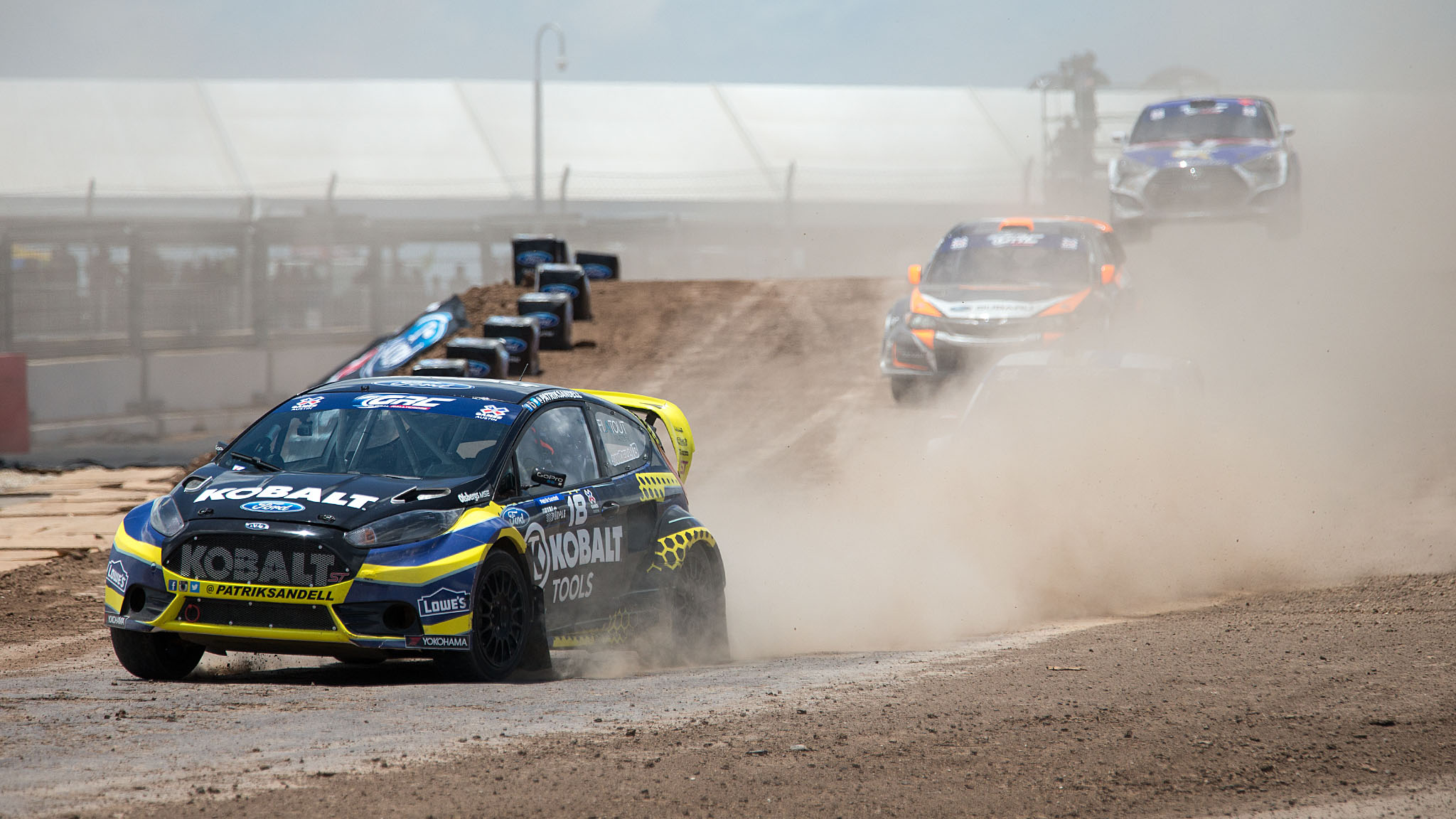 Sweden's Patrik Sandell holds a RallyCross bronze from X Games Foz do Iguacu and a silver from GRID at X Games LA 2014. He stalled in a corner, causing a red flag and a race restart during the Ford RallyCross final Saturday. Sandell tried to join the restart, but as his stall caused the red flag, he was disqualified and forced to drive off the course instead.
