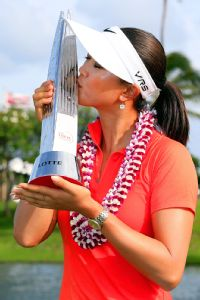 Michelle Wie delighted her native state of Hawaii by winning there in April.