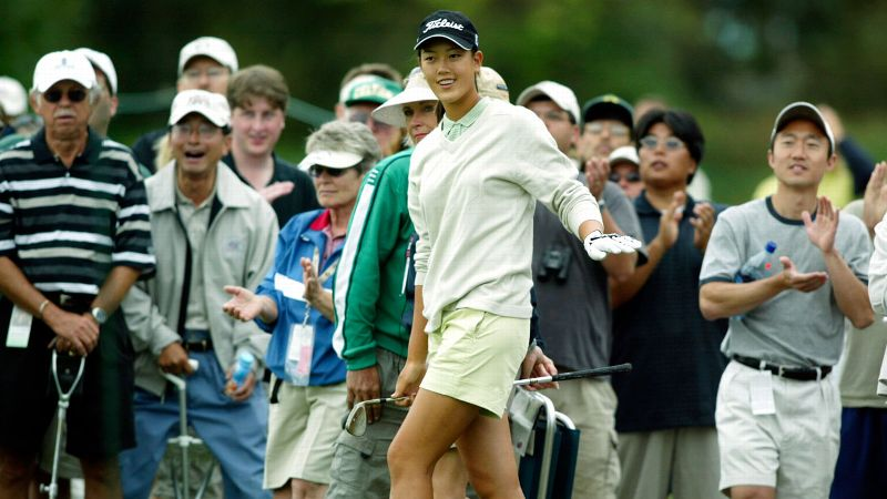Playing in her 11th U.S. Women's Open this weekend at Pinehurst, Michelle Wie made her Open debut in 2003 at the age of 13. The emerging star was an immediate crowd favorite, but she and her father, B.J. Wie, were accused of etiquette lapses by another player. With a 36-hole score of 4-over, Wie became the youngest player in tournament history to make the cut. She finished tied for 39th place.