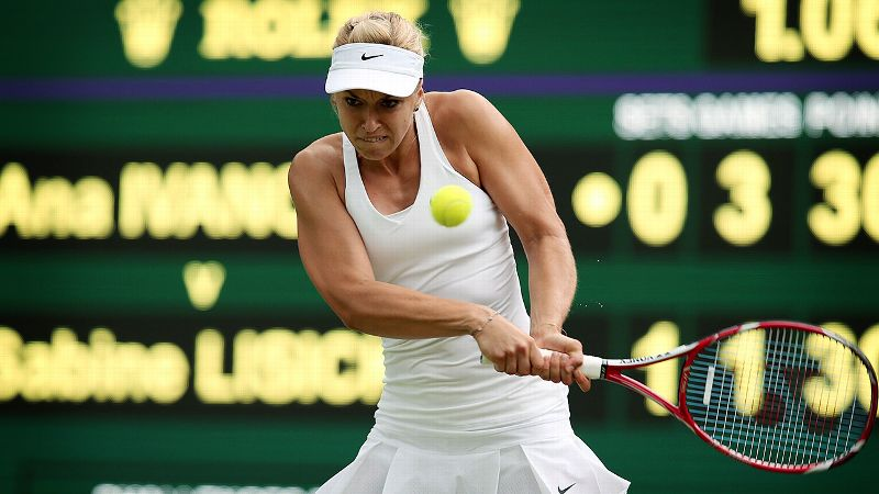 The 24-year-old German made it to the final a year ago at Wimbledon, falling to Marion Bartoli in the championship match. Along the way, she beat Serena Williams in the fourth round and Agnieszka Radwanska in the semifinals. Previously, she made it to two Wimbledon quarterfinals and one semifinal. She is seeded 19th this year and beat 11th-seeded Ana Ivanovic in the third round.