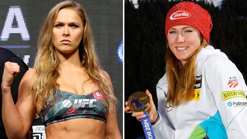 Ronda Rousey and Mikaela Shiffrin