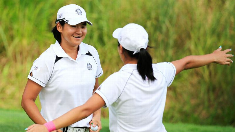 Yani Tseng made four birdies on the day, including the match winner on No. 18, as she and Phoebe Yao beat Lexi Thompson and Stacy Lewis 1 up.
