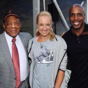Sabine Lisicki, Barry Bonds & Willie Mays