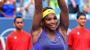 Serena Williams won her first Western & Southern Open on Sunday in just 62 minutes over Ana Ivanovic.