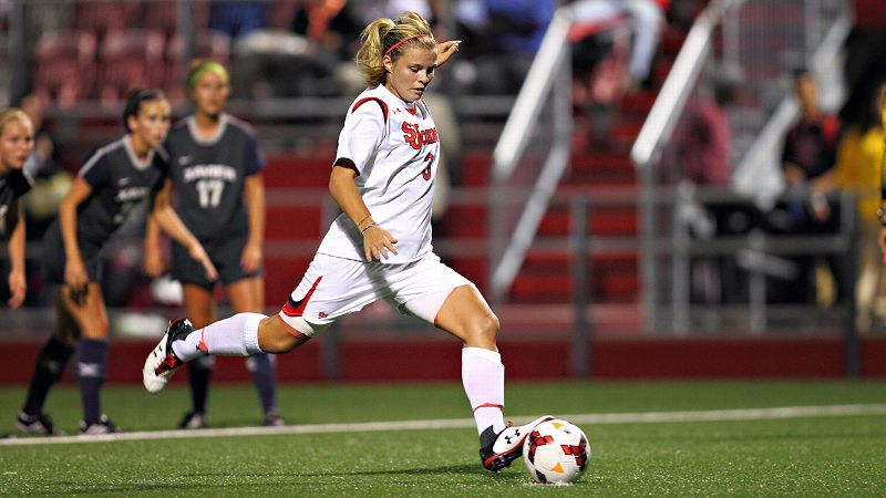 Rachel Daly, the Big East preseason offensive player of the year, is one of two English stars for St. John's.