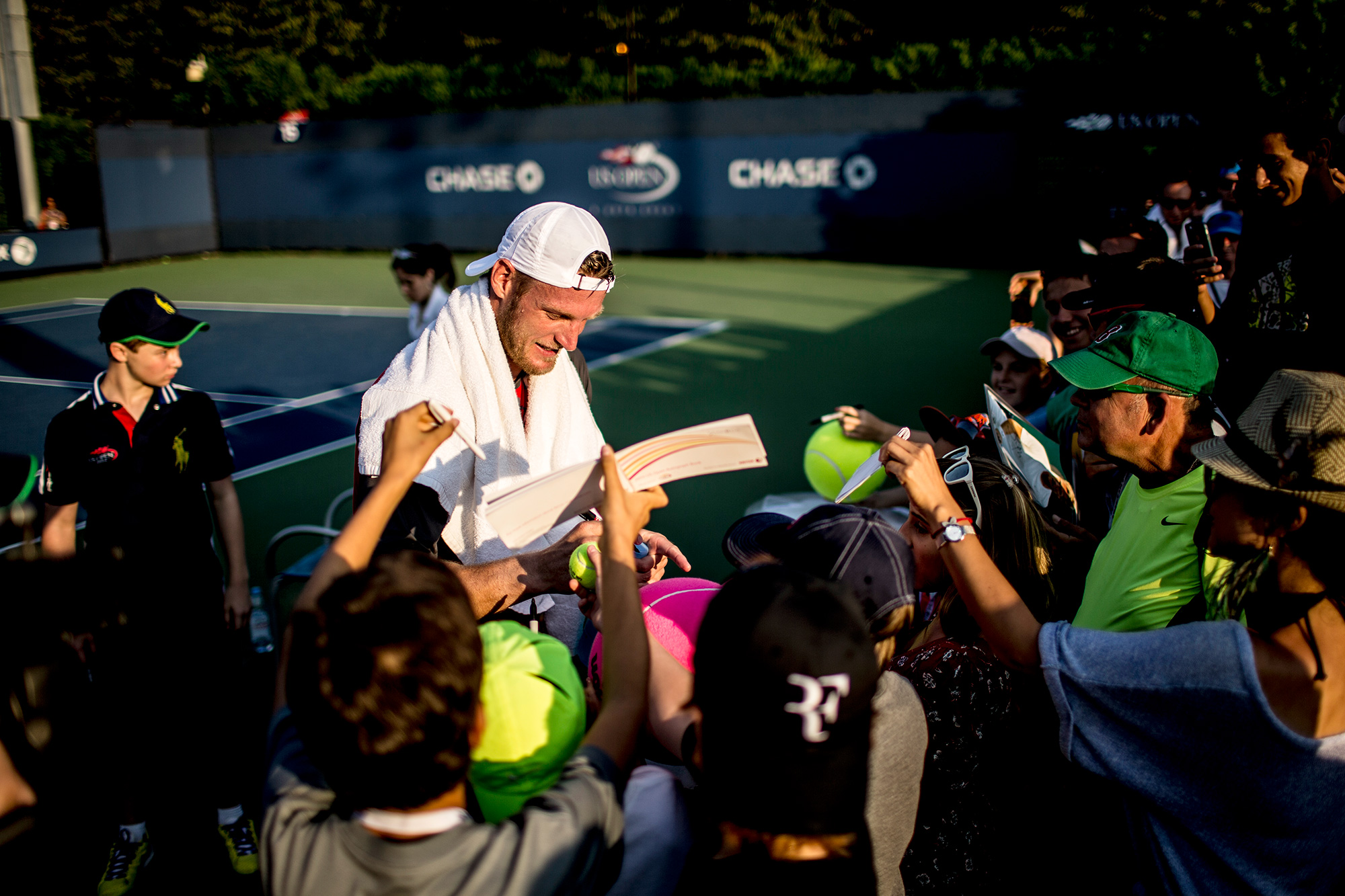 After a 6-3, 7-6 (5), 6-3 victory, Groth was surrounded by a half-dozen fans looking for an autograph.