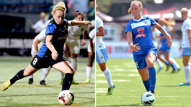 These two playmakers are a pair of aces: Seattle's Kim Little and Kansas City's Lauren Holiday.