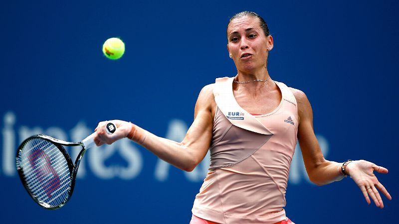 Surely you remember the 12th-ranked Pennetta from a year ago, when she made it to the US Open semifinals before falling to Victoria Azarenka. The 32-year-old Italian has 10 career titles and is approaching 10 million in career earnings. In addition to her run to the semis a year ago, Pennetta made it to the quarters in Queens in 2008, 2009 and 2011. One more thing: She's one of three singles quarterfinalists still alive in doubles (along with Serena Williams and Ekaterina Makarova). Pennetta's partner at the Open is someone who knows a little something about winning majors -- Martina Hingis.