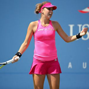 In her first Grand Slam quarterfinal, 17-year-old Belinda Bencic committed 19 unforced errors and won just three games.