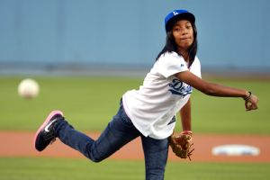 Appearing in a commercial that aired during Game 1 of the World Series will not compromise the amateur status of Mo'ne Davis should she choose to play college sports.