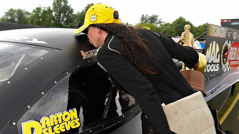 No matter what else happens this season, Alexis DeJoria has won the biggest race of all: U.S. Nationals.