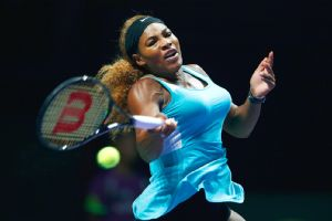 Serena Williams will take a 16-match WTA Finals winning streak into her match again Simona Halep on Wednesday.