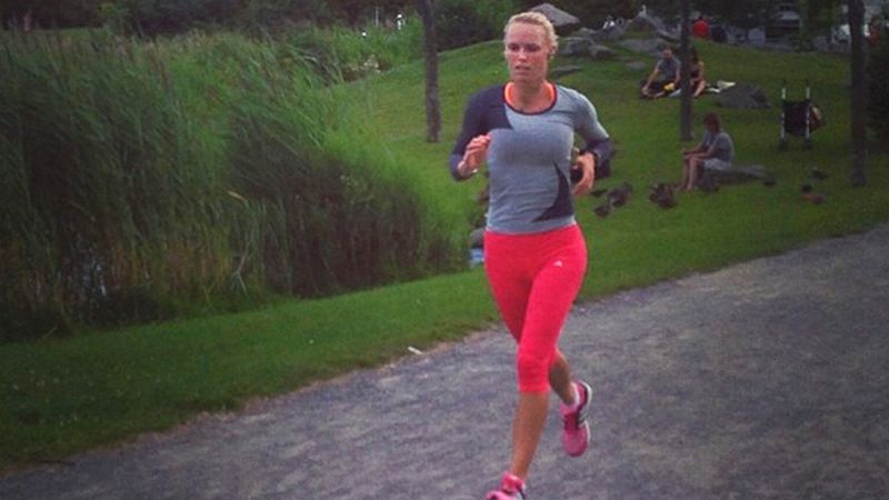 Caroline Wozniacki has stepped up her regular cardio training over the past few months to train for the Nov. 2 New York City Marathon.