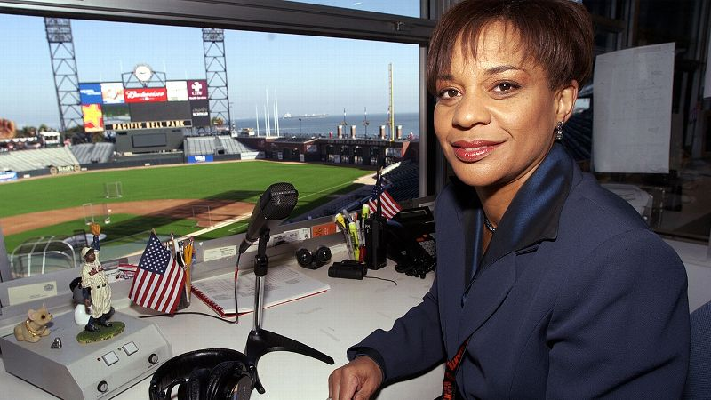 The only female PA announcer currently in MLB, Renel Brooks-Moon has been perched in what she describes as the best seat in the house at AT&T Park since 2000. She has two World Series rings and is hoping for a lucky third this year.