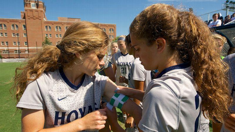 NCAA women's soccer -- Rachel & Daphne Corboz