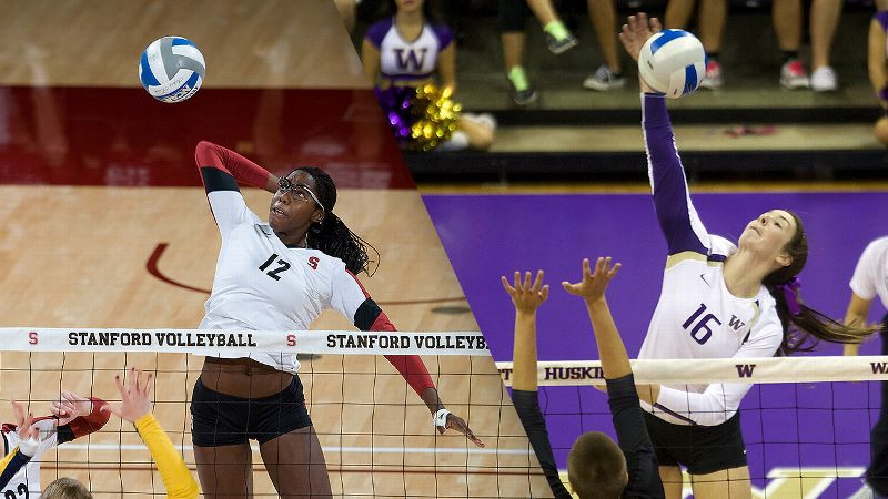 NCAA women's volleyball -- Stanford and Washington