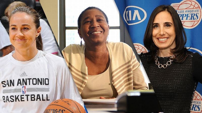 Becky Hammon, Michele Roberts & Gillian Zucker