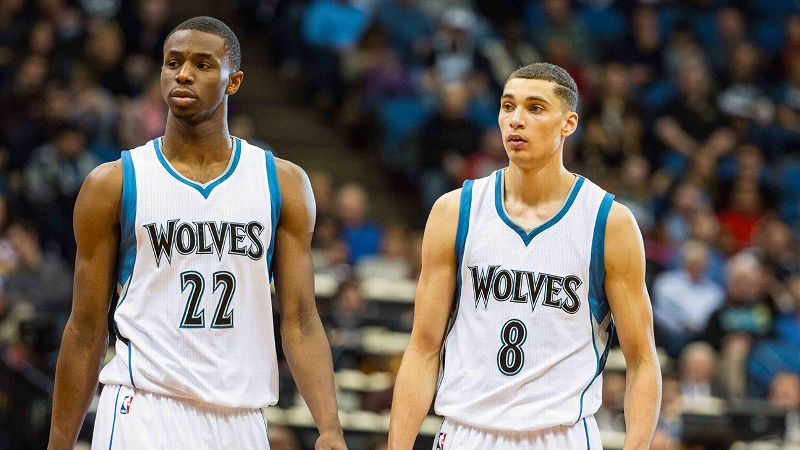 Andrew Wiggins and Zach LaVine