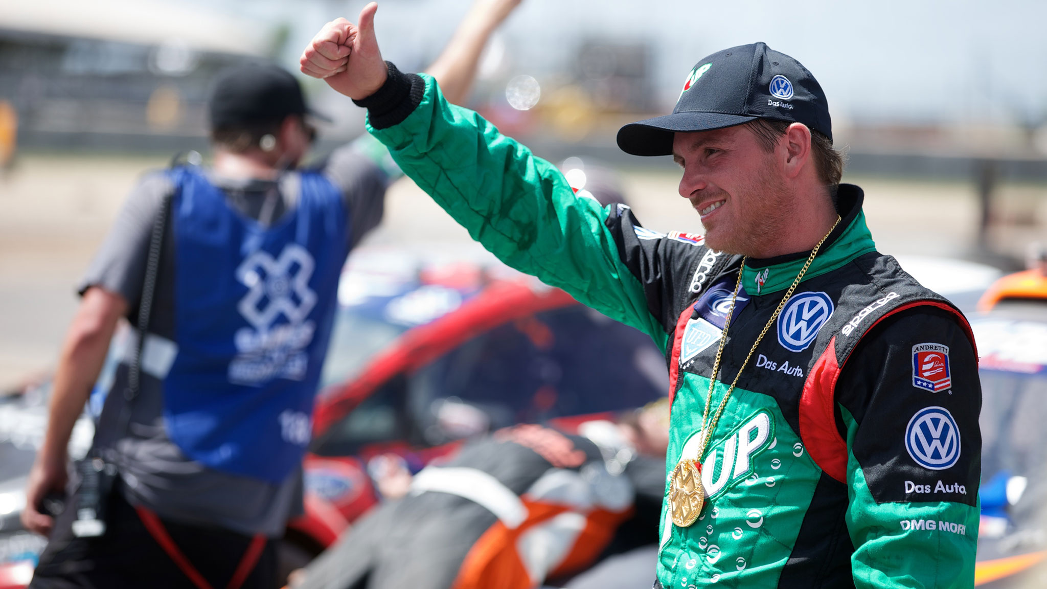 Can Scott Speed become the first person to snag three X Games RallyCross gold medals?