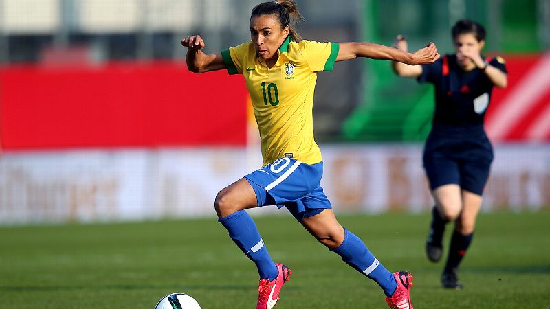 No. 1: Marta, Brazil, forward