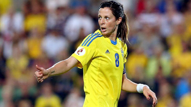No. 5: Lotta Schelin, Sweden, forward