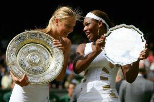 Maria Sharapova celebrates