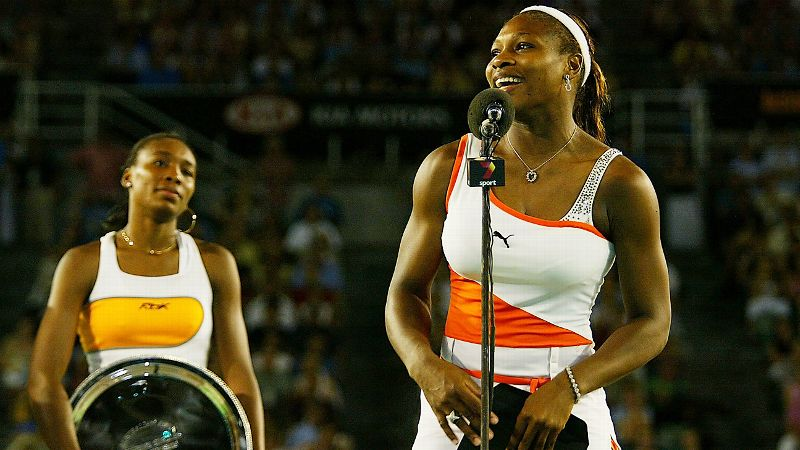 2003 Australian Open final, Serena wins 7-6 (4), 3-6, 6-4