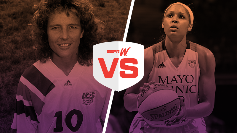 espnW Best Female Athlete Matchup Michelle Akers Maya Moore