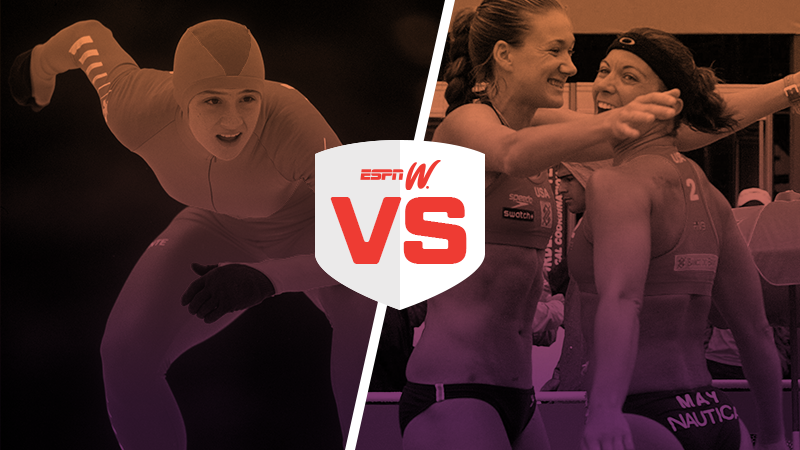espnW Best Female Athlete Match-Up Bonnie Blair Kerri Walsh Jennings Misty May-Treanor