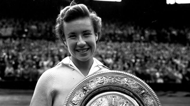 Maureen Connolly won her first major title in 1951 at the US Open before sweeping the four major titles in 1953.