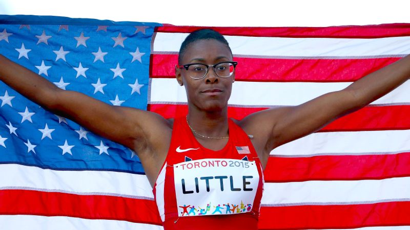 Shamier Little won gold in the 400 meter hurdles at this year's Pan American Games in Toronto.
