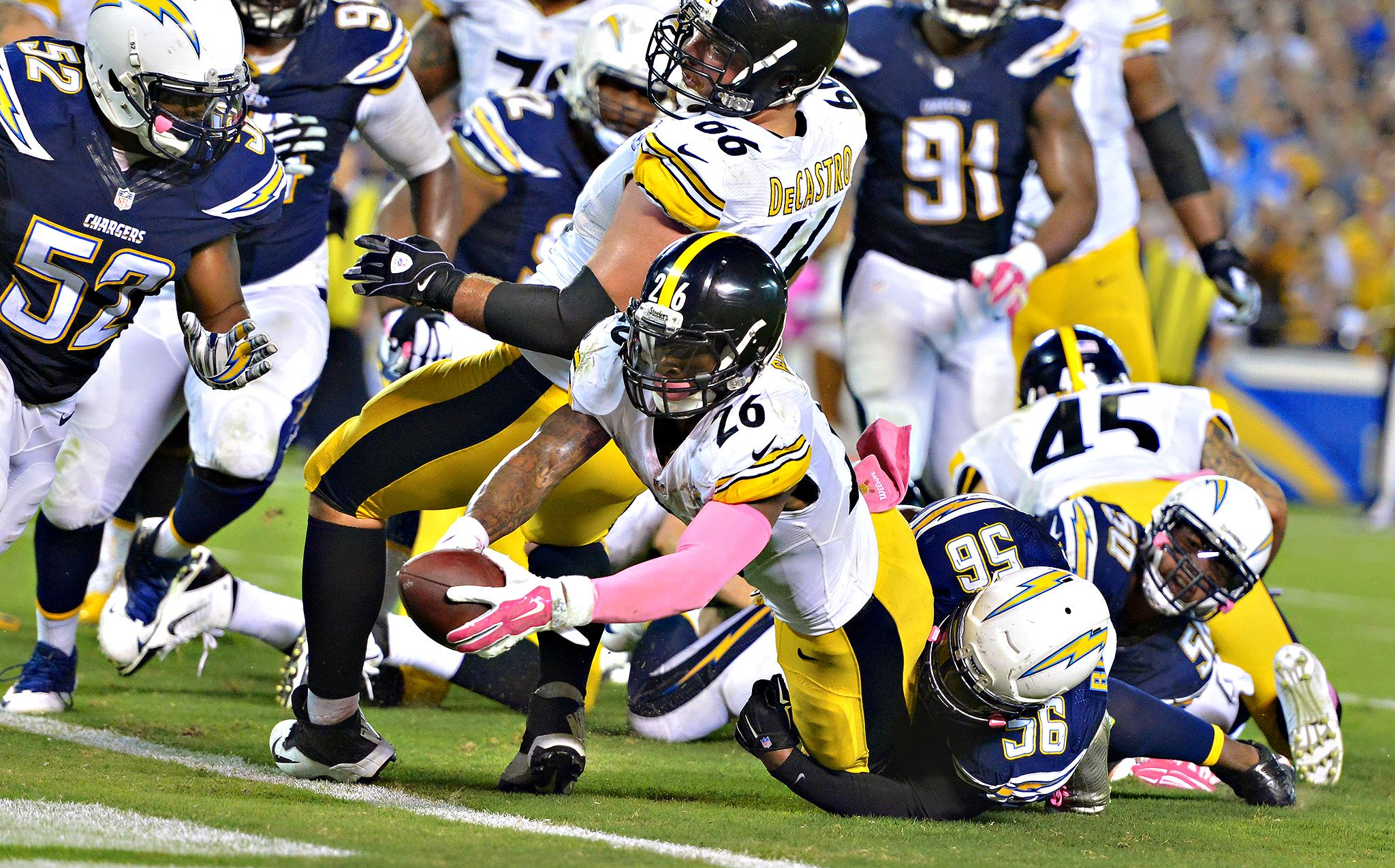 Le Veon Bell Photos Steelers Vs Chargers Espn