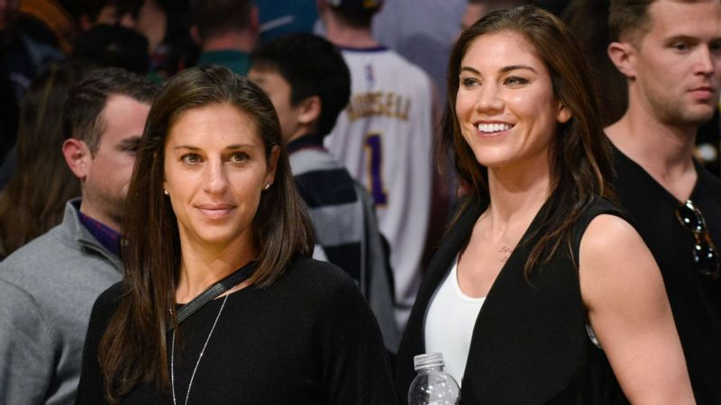 Carli Lloyd and Hope Solo
