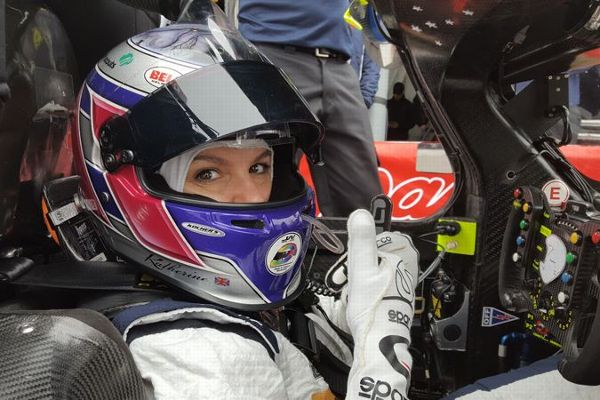 Legge pilots the DeltaWing through testing at the Roar Before the 24.