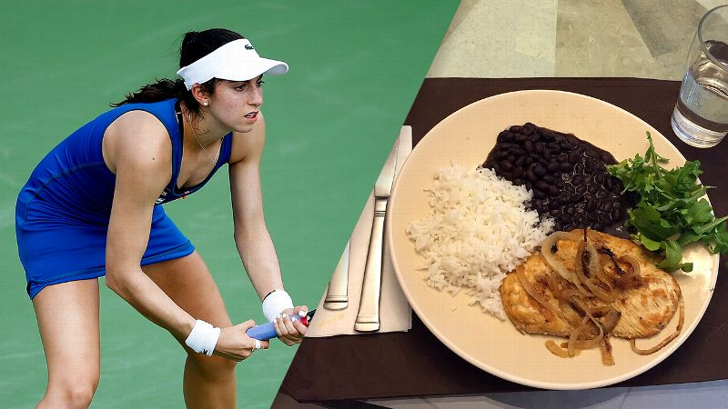 Christina McHale and her meal.