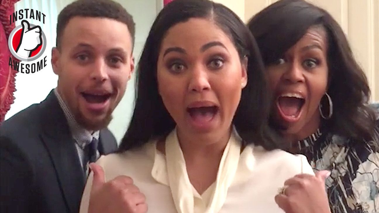 Stephen Curry, Ayesha Curry & Michelle Obama